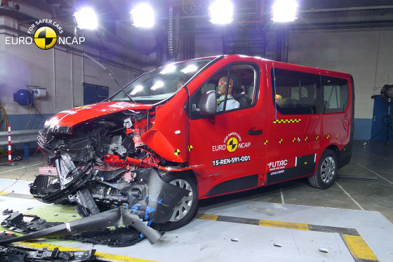 Renault Trafic: Euro NCAP Crashtest Februar 2015