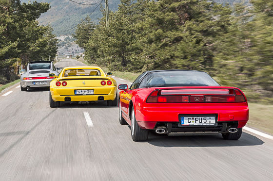 Honda NSX, Ferrari F355 GTS, Porsche 911 Targa