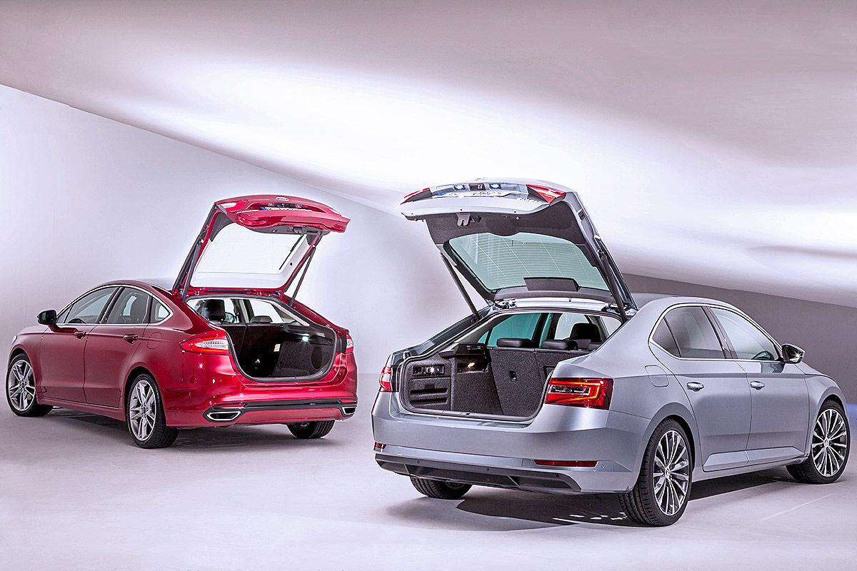 Skoda Superb Gegen Ford Mondeo Vergleich Bilder