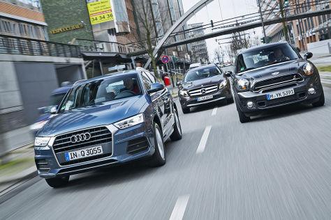 SUVs ohne Allrad: Q3, GLA und Countryman im Vergleichstest ...