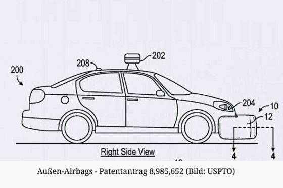 Google bekommt Patent für Fußgänger-Airbag