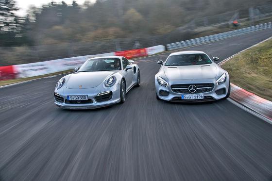 Mercedes-AMG GT S Porsche 911 Turbo
