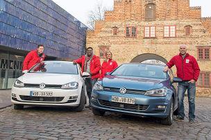 VW Golf TDI/VW Golf TGI: Reichweiten-Test