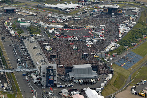 Luftbild Rock am Ring Nürburgring