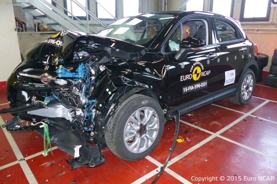 Euro NCAP Crashtest Fiat 500x (April 2015)