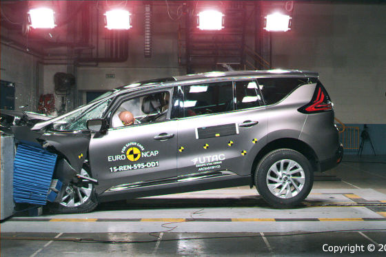 Euro NCAP Crashtest Renault Espace (April 2015)