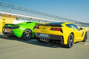 Die Corvette macht alle platt