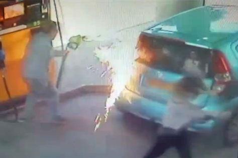 Feuer an Tankstelle in Jerusalem: Video