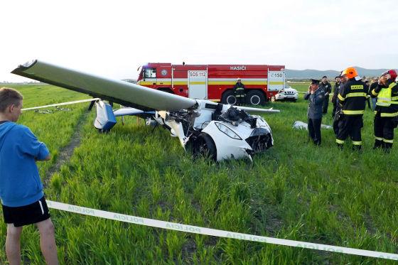 Crash beim Testflug