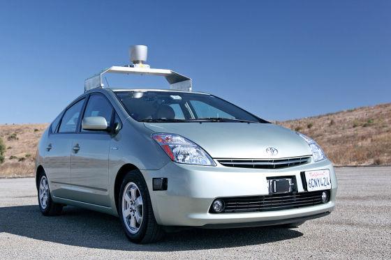 Google self driving car   Toyota Prius