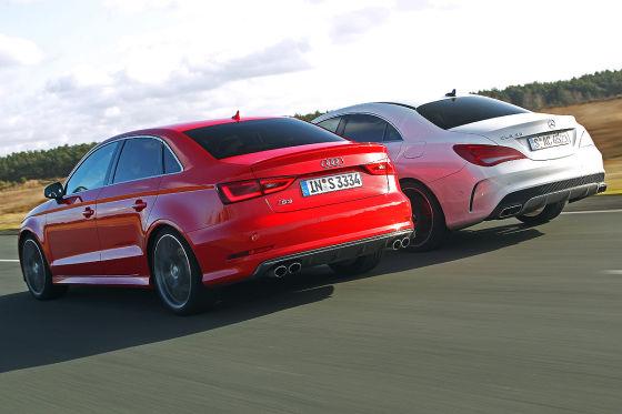 Audi S3 Limousine Mercedes CLA 45 AMG