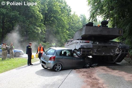 Panzer plättet Toyota