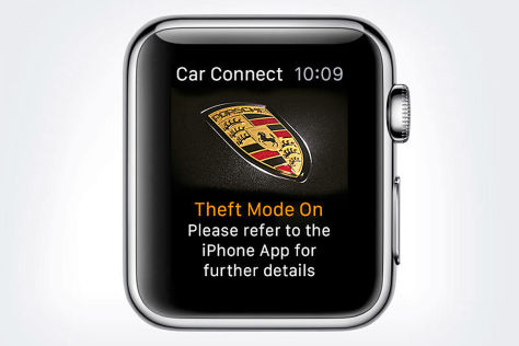 Porsche-App für Apple Watch
