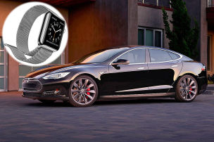 Apple Watch startet Tesla