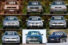Alle Generationen Golf im Überblick