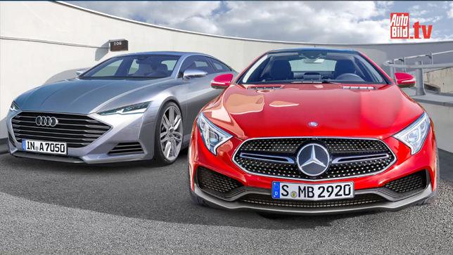 Video: Audi A7 & Mercedes CLS (2017-2019) - autobild.de