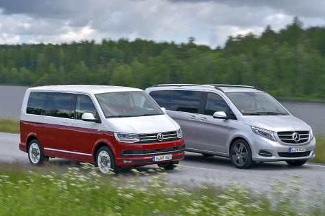 bus-battle: vw t6 trifft mercedes v-klasse - autobild.de
