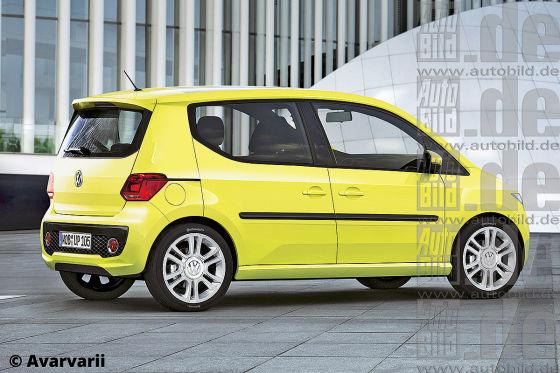 VW Up Minivan Illustration