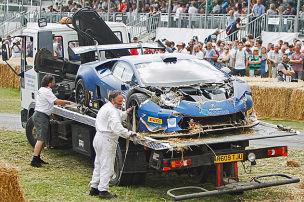 Spektakuläre Unfälle