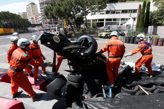 Crash in Monaco