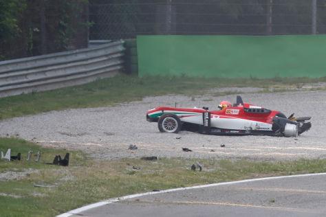 Unfall in der Formel 3