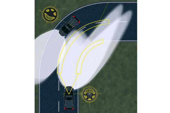Scheinwerfer mit Fußgänger-Erkennung und GPS