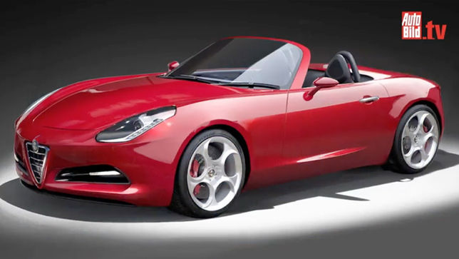 video alfa romeo spider 2018  auto bild