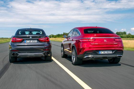 BMW X6 Mercedes GLE Coupé
