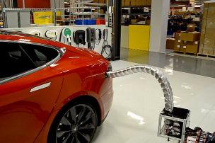 Teslas Ladeschlange