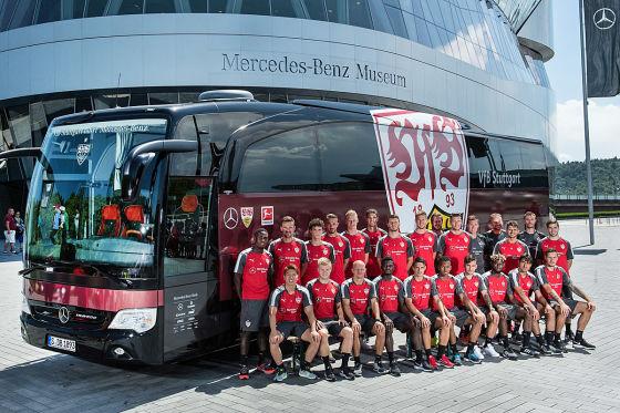 Neuer Mannschaftsbus für den VfB Stuttgart: Startklar für die erste Liga