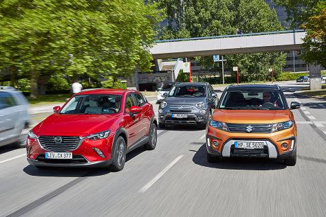 Mini Suvs Mazda Cx 3 Trifft Auf Fiat 500x Und Suzuki