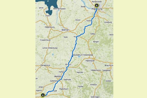 340 Kilometer im Tretauto