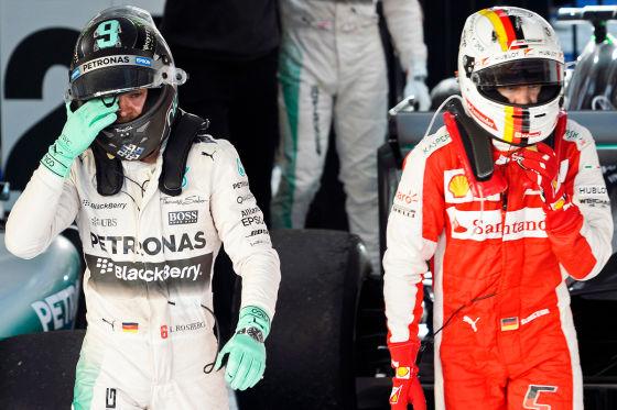 Rosberg & Vettel