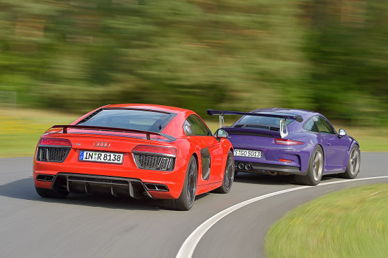 Audi R8 V10 Plus Porsche 911 GT3 RS