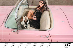 Girls & Legendary US-Cars: Kalender 2019