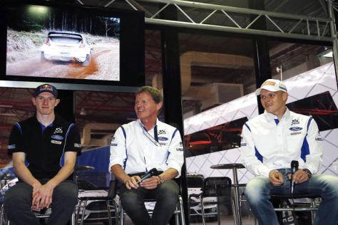 Elfyn Evans, Malcolm Wilson und Ott Tänak: Hohe Ziele für die Rallye Spanien