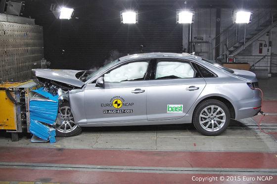 Audi A4 im Euro NCAP-Crastest