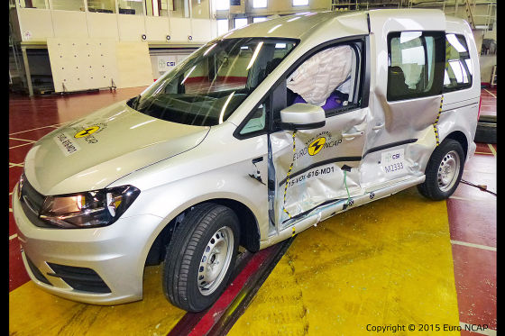 VW Caddy im Euro NCAP-Crashtest