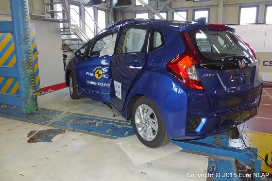 Honda Jazz im Euro NCAP-Crashtest