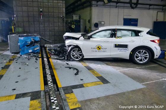 Infiniti Q30 beim Euro-NCAP-Crashtest