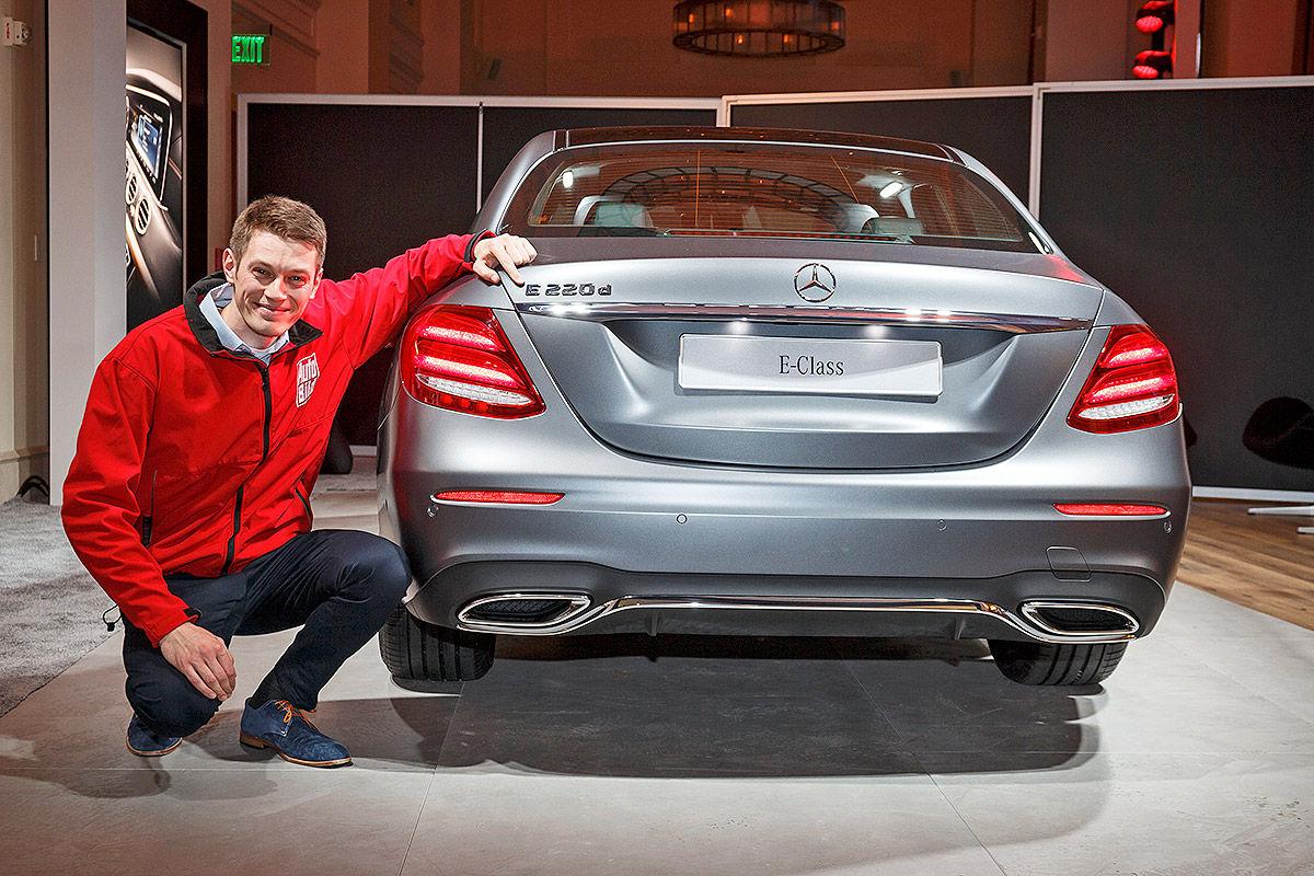 Mercedes E Klasse W213 Im Test Detroit 2016 Sitzprobe Bilder