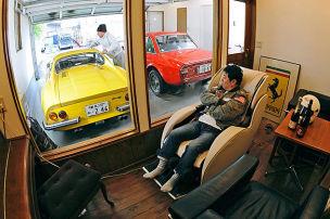 Autos, die im Haus wohnen