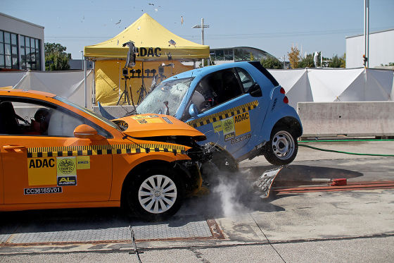 ADAC-Crashtest: VW Golf vs. Smart fortwo