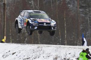 Rekordsprung bei Rallye Schweden