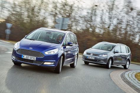 Familien Vans Ford Galaxy Und Vw Sharan Im Test Vergleich