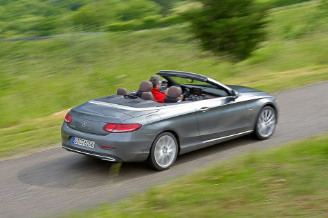 mercedes c-klasse cabrio im test (2016): fahrbericht - autobild.de