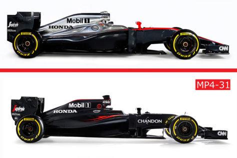 Formel 1 2015 2016 Im Vergleich Neue Autos Im Vorgänger Check