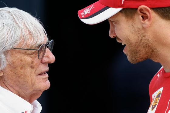 Ecclestone & Vettel