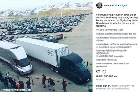 Teslas Elektro-Truck