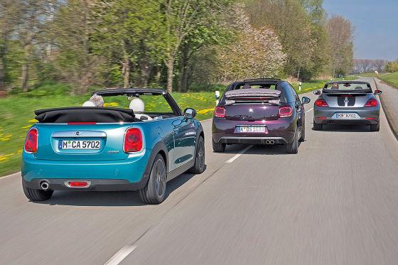 Citroën DS3 Mini Cooper VW Beetle